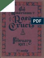 The American Rosae Crucis, February 1917