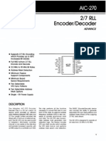 AIC-270 RLL Encoder DecoderAIC-270 RLL Encoder DecoderAIC-270 RLL Encoder Decoder