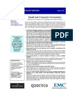 Email and corporate governance