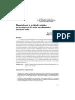 Diagnóstico de la gestión tecnológica
