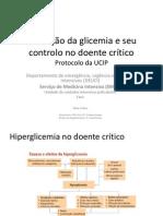 Alteração da glicemia e seu controlo no doente