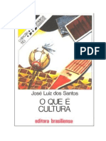 O Que é Cultura - José Luiz dos Santos
