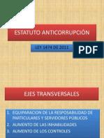 Anticorrupción Ley 1474 de 2011
