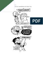 reacciones candidatos