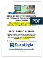 Dicas de Direito Processualdo Trabalho Para Concursos Trabalhistas Bruno Klippel