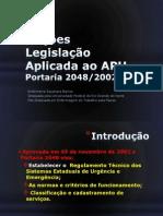 Noções Legislação Aplicada ao APH
