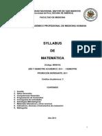 MH0410_Matemática Medicina Humana 2011