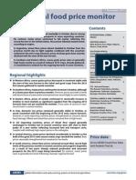 Global food price monitor (FAO - November 2013)