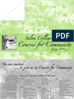 Salem College Courses for Community - Spring 2010