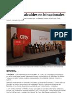 18-11-2013 'Se reúnen alcaldes en binacionales'