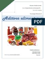 Relatório - Aditivos alimentares