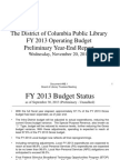 Document #9B.1 - FY2013 Operating Budget - Preliminary Year-End