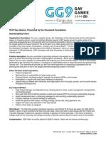 GG9 Sustainability Intern Description