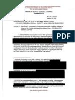 August 2009 NSA Guidance Memo