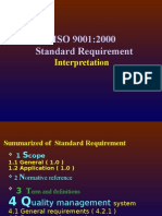 ISO 9001:2000 Standard Requirement