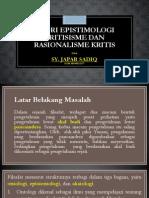Teori Epistimologi Kritisisme Dan Rasionalisme Kritis