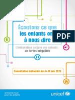 UNICEF France Rapport Resume Consultation