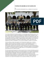 Presidenta Cristina Fernandez en UNASUR, Quito Ecuador