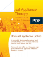 171201339 Occlusal Appliance Therapy