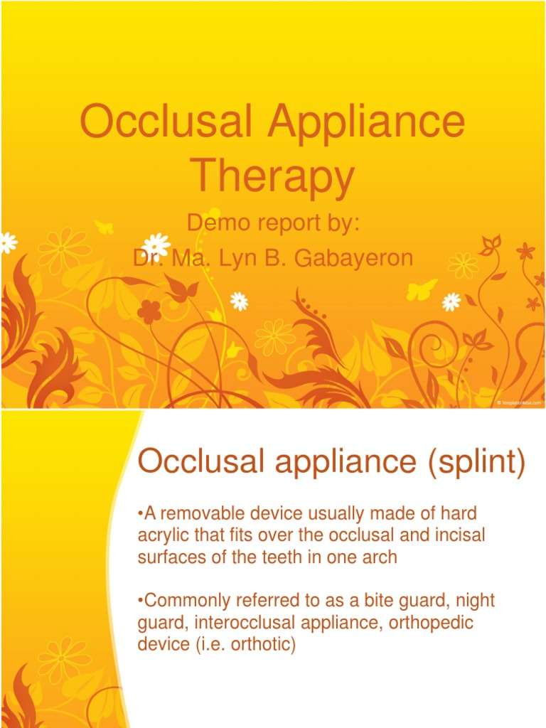 171201339 Occlusal Appliance Therapy Tooth Dental Anatomy