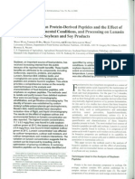 Analysis of Soybean Protein Derived Peptides and the Effects of Various Factors on Lunasin Concentration in Soybean and Soy Products