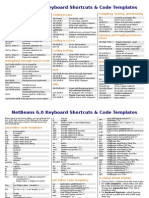 NetBeans 6.0 Keyboard Shortcuts & Code Templates