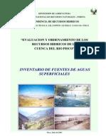 Fuentes Agua Superficial Pisco