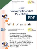 Test Caracteriológico de Grieger