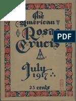 The American Rosae Crucis, July 1917