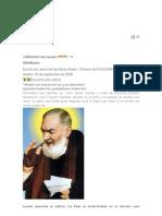 CARTA AL PADRE PÍO DE PIETRELCINA EN EL 40 ANIVERSARIO DE SU MUERTE
