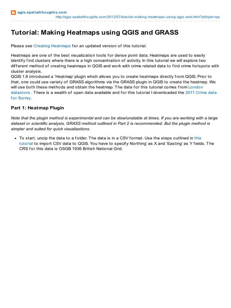 Qgis spatialthoughts com-Tutorial Making Heatmaps Using QGIS and