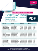 TV Revision Lectures