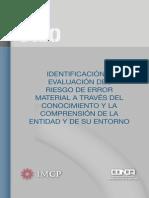 BOLETIN 3080  Identificacion y Evaluacion del riesgo de Error Material a través del Conocimiento y la Comprension de la Entidad y su Entorno.