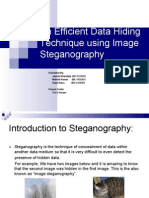 An Efficient Data Hiding Technique using Image Steganography