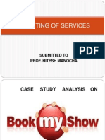 case study on bookmyshow.com for service  perspective