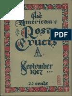 The American Rosae Crucis, September 1917