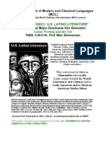Flier for UH Latino Literature WCL 3362