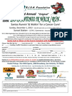 Santa Antonio Walk Run Flyer - 2013