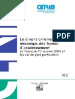 008 Dimensionnement Mecanique Tuyaux d Assainissement Beton Fascicule 70 Et Pose (1)
