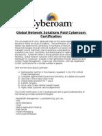 Cyberoam Certification