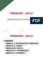 PRONATEC   2013.2