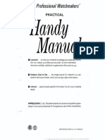 The Professional Watchmakers' PRACTICAL Hany Manual