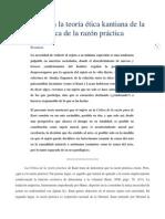 El sujeto en la teoría ética kantiana de la Crítica de la razón práctica - Versión Final