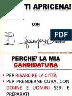 Presentazione del candidato sindaco Franco Parisi