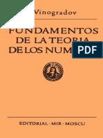 Fundamentos de la Teoría de los Números - I. Vinogradov