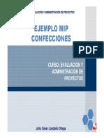Ejemplo Mip Confecciones