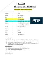 zycus infotech placement papers