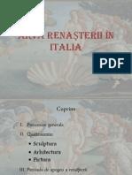 Arta Renasterii in Italia