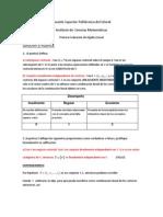 Primera Evaluación I Term. 2013, Álgebra Lineal - ESPOL