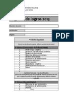 Registro de Logros 2013